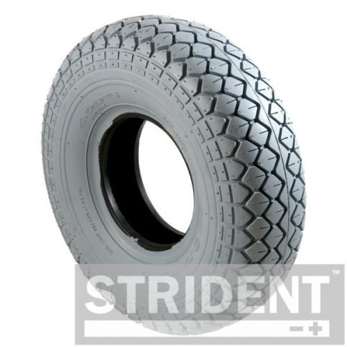 C154PN Replacement Mobility Scooter Tyres GREY PNEUMATIC 330 X 100 (4.00-5) INNOVA DIAMOND BLOCK TYRE