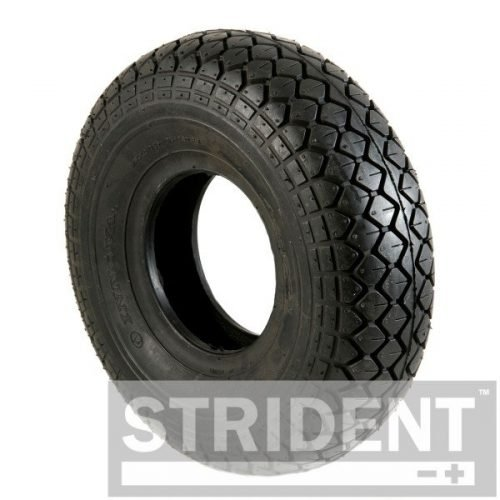C154PNB Replacement Mobility Scooter Tyres - BLACK PNEUMATIC 330 X 100 (4.00-5) INNOVA DIAMOND BLOCK TYRE