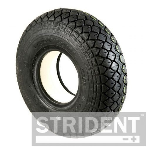 C154SB Replacement Mobility Scooter Tyres BLACK SOLID 330 X 100 (4.00-5) DIAMOND BLOCK INNOVA TYRE