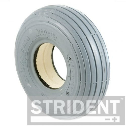 C179S - Replacement Mobility Scooter Tyres strident grey SOLID 260 X 85 (3.00-4) RIB INNOVA TYRE