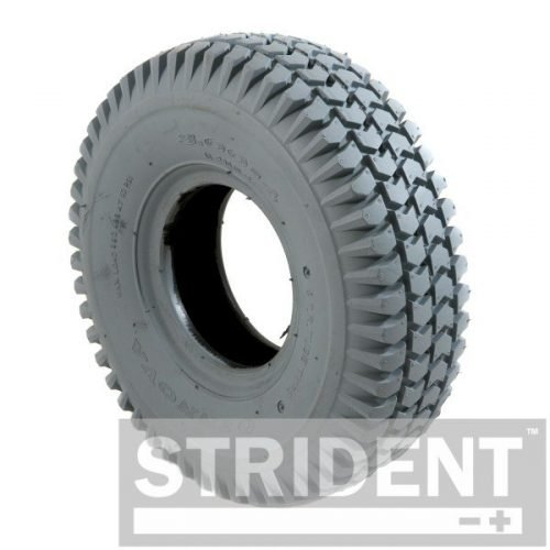 C248PN Replacement Mobility Scooter Tyres - GREY PNEUMATIC 260 X 85 (3.00-4) INNOVA BLOCK TYRE
