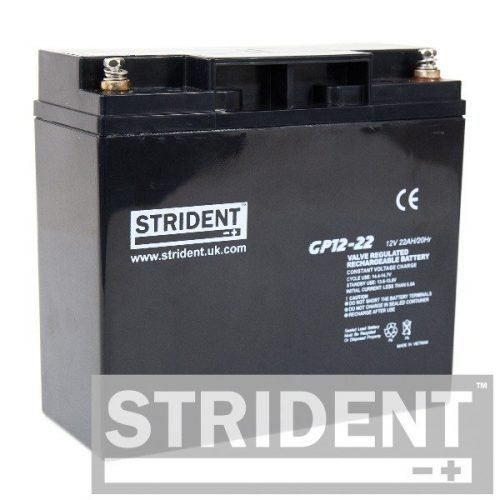 strident GP12-22 12v 22ah mobility scooter battery - replacement batteries for electric mobility scooters