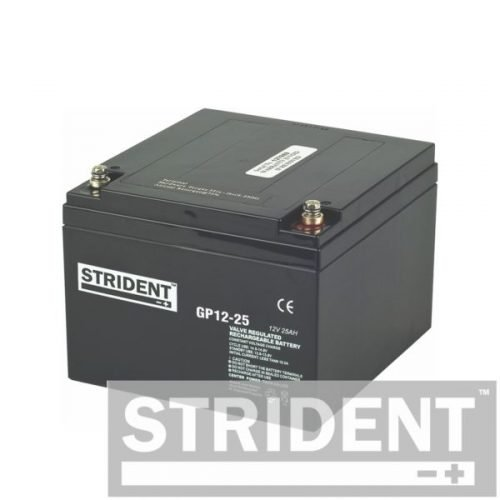 strident GP12-25 12v 25ah mobility scooter battery