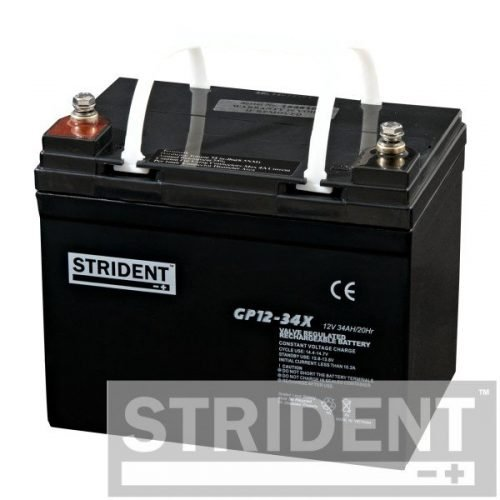 strident GP12-34 12v 34ah mobility scooter battery