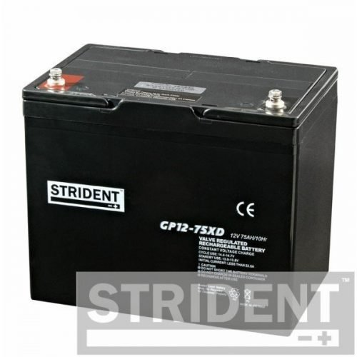 Strident GP12-75 12v 75ah mobility scooter battery