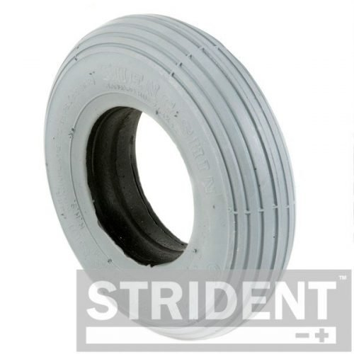 TE200IA2802S - Replacement Mobility Scooter Tyres - strident grey solid 200 x 50 rib tyre