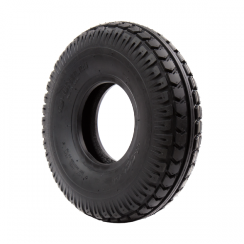 TL5U222B replacement mobility scooter tyres - BLACK PNEUMATIC 330 X 100 (4.00-5) CHEVRON TYRE