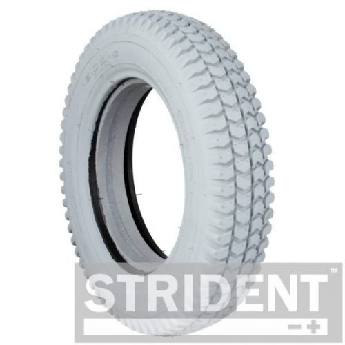Replacement Mobility Scooter Tyres - Strident Grey Solid 300 8 Block Tyres