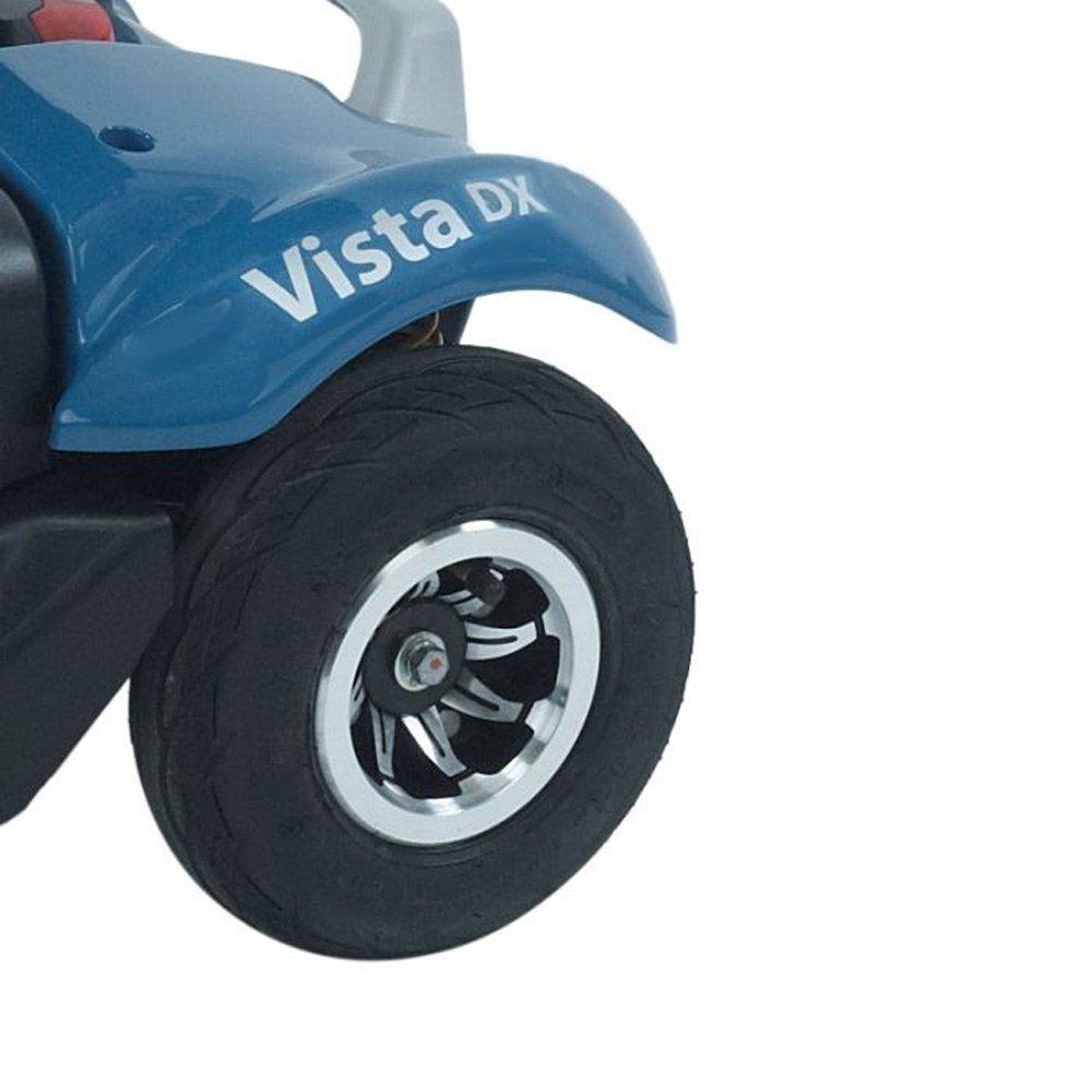 Rascal Vista DX Blue electric mobility scooter -boot size scooters from Shropshire Mobility Solutions