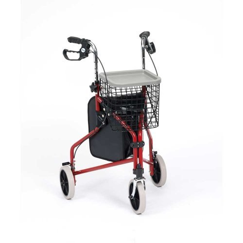 Steel Triwalker red - Buy 3 wheel rollators from Shropshire Mobility Solutions